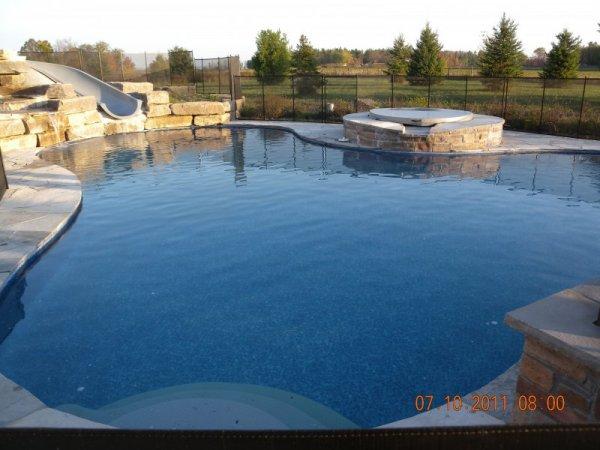 Inground vinyl liner pools for Pool design ottawa